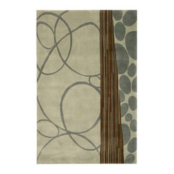 Nourison - NOUR-64489 Nourison Dimensions Area Rug Collection - This collection features modern abstract and geometric designs in rich contemporary colors. The addition of Luxcelle in some of the designs adds sheen and movement. Make a bold artistic statement in any room with these exciting rugs.