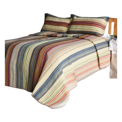 Blancho Bedding - Enthusiasm Desert-2 100% Cotton 3PC Patchwork Quilt Set  Full/Queen Size - Set includes a quilt and two quilted shams (one in twin set). Shell and fill are 100% cotton. For convenience, all bedding components are machine washable on cold in the gentle cycle and can be dried on low heat and will last you years. Intricate vermicelli quilting provides a rich surface texture. This vermicelli-quilted quilt set will refresh your bedroom decor instantly, create a cozy and inviting atmosphere and is sure to transform the look of your bedroom or guest room.