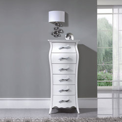 ESF 6-Drawer White Chest