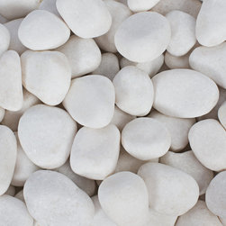Rain Forest - 20 Lb Snow White Pebbles 1-3 cm - Margo Garden Products Beach Pebble collection offers hand-picked stones from the most beautiful beaches in the world. All stones are naturally created and tumbled in its natural habitat to produce the most smooth and rounded rock for outdoor gardens and interior design and landscaping. This 20 lb. bag is easy to tote and store for adding a beautiful and long lasting accent to your landscape and design. Use Beach Pebbles as a substitute to mulch along walkways and outdoor gardens, in fountains, in interior and exterior planters and in creative interior and exterior design.""