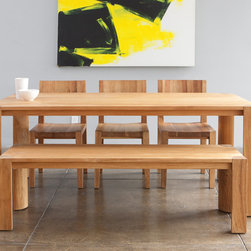 MASH Studios - PCH Dining Table - MASH Studios - The PCH dining table brings people together. The beautifully crafted solid teak wood table top and chunky quarter round legs add a presence to any room.
