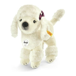 Steiff - Steiff Plush Pauline Poodle Dog - Steiff Pauline Poodle Dog is made of cuddly soft white woven plush. Machine washable. Ages 3 and up. Handmade by Steiff of Germany.