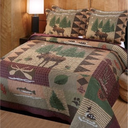 Greenland Home Fashions Moose Lodge - 3 Piece Quilt Set - About Greenland Home Fashions For the past 16 years Greenland Home Fashions has been perfecting its own approach to textile fashions. Through constant developments and updates - in traditional country and forward-looking styles – the company has become a leading supplier and designer of decorative bedding to retailers nationwide. If you're looking for high quality bedding that not only looks great but is crafted to last consider Greenland.