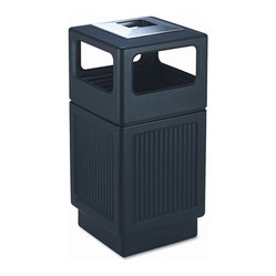 Canmeleon Ash/Trash Square Receptacle