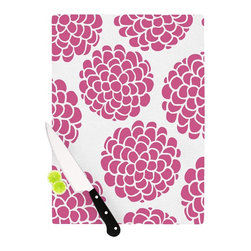 """Kess InHouse - Pom Graphic Design """"Raspberry Blossoms"""" Teal Circles Cutting Board (11.5"""" x 15.7 - These sturdy tempered glass cutting boards will make everything you chop look like a Dutch painting. Perfect the art of cooking with your KESS InHouse unique art cutting board. Go for patterns or painted, either way this non-skid, dishwasher safe cutting board is perfect for preparing any artistic dinner or serving. Cut, chop, serve or frame, all of these unique cutting boards are gorgeous."""