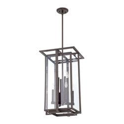 Quoizel - Quoizel 8-Light Quoizel Fixture Chandelier, Western Bronze - QF1397RWT - -Made of Steel Material
