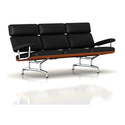Herman Miller - Herman Miller Eames Sofa - This sofa beckons you to curl up with a good book and a glass of wine. Designed by Charles and Ray Eames, it has an angled profile that distributes weight perfectly between the back and seat. Its simplified form clad in richly appointed leather makes it equally suitable for the contemporary home or office.