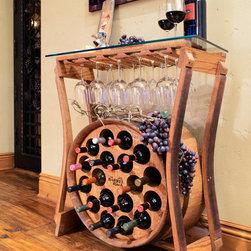 Barrel Wine Racks - Ruckus Visual Arts
