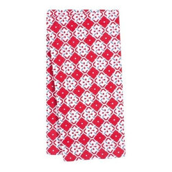KAF Home - Botanical Geo Napkin Red, Set of 4 - The botanical floral pattern napkin pairs wonderfully with its reversible geometric pattern to create an exotic clash of designs. This napkin is suitable for a formal or casual occasion.