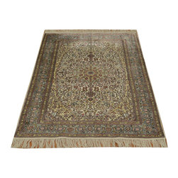 1800-Get-A-Rug - Pure Silk Light Colors Hand Knotted Fine Tabriz 600 kpsi Rug Sh14802 - Our fine Oriental hand knotted rug collection consists of 100% genuine, hand-knotted and hand-woven rugs from Persia, China, and other areas throughout Asia. Classic, traditional, and offered in a wide range of elaborate designs, every rug is guaranteed to serve as a beautiful and striking element in any interior setting.