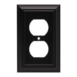 Liberty Hardware - Liberty Hardware 64218 Architectural WP Collection 3.15 Inch Switch Plate - A simple change can make a huge impact on the look and feel of any room. Change out your old wall plates and give any room a brand new feel. Experience the look of a quality Liberty Hardware wall plate. Width - 3.15 Inch, Height - 4.9 Inch, Projection - 0.2 Inch, Finish - Flat Black, Weight - 0.24 Lbs.