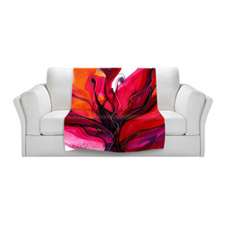 DiaNoche Designs - Throw Blanket Fleece - Soul Flower 60 - Original Artwork printed to an ultra soft fleece Blanket for a unique look and feel of your living room couch or bedroom space.  DiaNoche Designs uses images from artists all over the world to create Illuminated art, Canvas Art, Sheets, Pillows, Duvets, Blankets and many other items that you can print to.  Every purchase supports an artist!