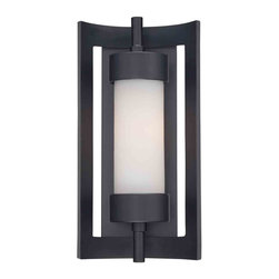 Quoizel Lighting - Quoizel MLN8307K Milan Mystic Black Outdoor Wall Sconce - 1, 100W A19 Medium
