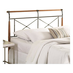 Fashion Bed - Fashion Bed Kendall King Headboard in Beech and Black Sapphire - Fashion Bed - Headboards - B92K46 - The phrase 'elegant simplicity' sums up this bed. A mix of Beech wood and metal with a tasteful Black Sapphire finish the Kendall Bed is highlighted by unique wooden posts which taper to the ground in a nice touch. The shiny metal makes up the majority of the remaining headboard and footboard & using spindles to form two 'x' patterns & although the posts are bridged by a slender piece of wood and are sleeved on each side and in the middle. The rails are arched slightly away from the bed for a final flourish.