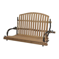 Chelsea Home Furniture - Genesis Deacon's Bench Style Swing - Bring an early American church s
