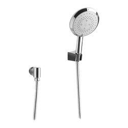 Toto - Toto TS100F2 Polished Chrome Trilogy Multifunction Handshower Set - Toto TS100F2#CP is a 2.5 Gallon Per Minute Shower Head with Clean Contemporary Lines in the Trilogy Design Collection in Polished Chrome