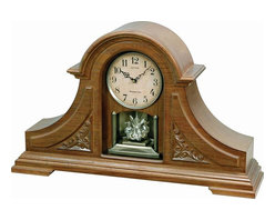 Rhythm - WSM King Mantel II Wooden Musical Clock - The WSM King Mantle II is a tambour style built from quality oak