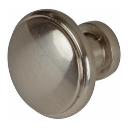 "GlideRite Hardware - GlideRite 1-3/32"" Round Knob Satin Nickel - Upgrade your cabinets with this classic round satin nickel knob. Each knob is individually packaged to prevent damage to the finish. A standard installation screw is included."