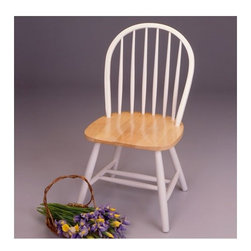 """Winsome - Side Chair (Set of 2) - This beautiful country chair will bring simplicity and comfort to your kitchen. Features: -Set includes 2 chairs.-Distressed: No.-Collection: Windsor.-Powder Coated Finish: No.-Gloss Finish: No.-Frame Material: Solid wood.-Solid Wood Construction: Yes.-Number of Items Included: 2 Chairs.-Non-Toxic: Yes.-Scratch Resistant : No.-Rust Resistant: Yes.-Stain Resistant: No.-Fire Retardant: No.-Mildew Resistant: No.-Arms Included: No.-Upholstered Seat: No.-Upholstered Back: No.-Nailhead Trim: No.-Swivel: No.-Foldable: No.-Stackable: No.-Number of Legs: 4.-Leg Material: Solid wood.-Casters: No.-Protective Floor Glides: No.-Adjustable Height: No.-Ergonomic Design: No.-Saddle Seat: No.-Outdoor Use: No.-Weight Capacity: 200 lbs.-Swatch Available: No.-Commercial Use: No.-Recycled Content: 0 % .-Eco-Friendly: No.Specifications: -FSC Certified: No.-ISTA 3A Certified: No.-General Conformity Certificate: No.-Green Guard Certified: No.-ISO 14000 Certified: No.Dimensions: -Overall Product Weight: 33 lbs.-Overall Height - Top to Bottom: 37"""".-Overall Width - Side to Side: 17.5"""".-Overall Depth - Front to Back: 16.5"""".-Seat Height: 17.48"""".-Seat Width - Side to Side: 19.2"""".Assembly: -Assembly Required: No.-Additional Parts Required: No.Warranty: -Product Warranty: Replacement parts within 60 days from date of purchase."""