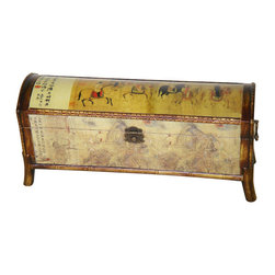 Wooden Galloping Horse Storage Box - It is the year of the horse on the lunar calendar, so we must have this Asian-inspired box with a horse motif! It is large enough to hold the remote on the coffee table.