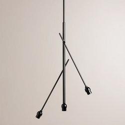 3-Arm Adjustable Chandelier -