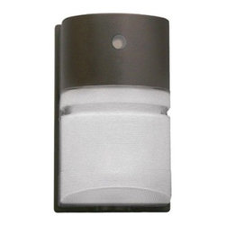Hubbell Outdoor - Hubbell NRG 26W Compact Fluorescent Outdoor Wallpack with Photocell - Entry or single story perimeter lighting for safety, security and identity. Use on commercial buildings, shopping centers, schools, apartment complexes as well as non-supervised vandal prone applications.