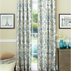Better Homes and Gardens Ikat Scroll Curtain Panel - These Better Homes and Gardens ikat curtain panels block out light and are energy efficient, and they're affordable to boot!