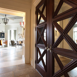Custom crafted front door - Duncan Cabinetry - Premier finishes, precision installation, handcrafted elegance in woodwork.  Phone: 717-252-0110 http://www.duncancabinetry.com