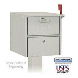 Salsbury Industries - Designer Roadside Mailbox - Nickel - Designer Roadside Mailbox - Nickel