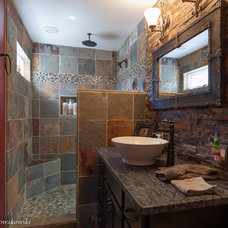 Rustic Bathroom by Construction Services & Management, Inc.