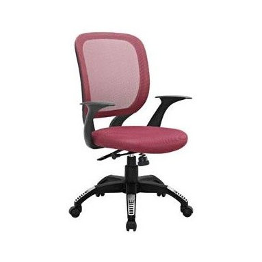 """LexMod - Scope Office Chair in Burgundy - Scope Office Chair in Burgundy - Since the proliferation of the office chair in the mid-19th century, designers have been working hard to perfect this now ubiquitous furnishing. One of the greatest advancements both in terms of style and support is a double-layered cushion process known as sandwich mesh. Scope combines the comfort of this deftly constructed waterfall seat, with a broad and breathable mesh back, to provide much needed assistance for those long hours at the office. Topped off with a dual-tone nylon base, five dual-wheel hooded casters, pneumatic lift for height adjustment, locking tilt mechanism, and a 360 degree swivel, and you have an offering that continues in the great tradition of modern office chairs, now close to two-hundred years old. Set Includes: One - Scope Office Chair Foam padding, Five hooded dual-wheel casters, Tilt control with locking, Dual-tone nylon base, Height adjustable, 360 degree swivel Overall Product Dimensions: 23.5""""L x 25""""W x 37.5 - 41.5""""H Seat Dimensions: 20.5""""L x 19""""W x 17.5 - 21""""HBACKrest Dimensions: 1""""L x 21.5""""H Armrest Height: 7""""H Cushion Thickness: 3""""H - Mid Century Modern Furniture."""