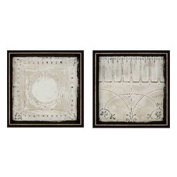 Paragon Art - Paragon Ceiling Tiles ,Set of 2- Artwork - Ceiling Tiles ,Set of 2        ,  Paragon Exclusive Giclee     Shadow Box           Artist is Sikes , Paragon has some of the finest designers in the home accessory industry. From industry veterans with an intimate knowledge of design, to new talent with an eye for the cutting edge, Paragon is poised to elevate wall decor to a new level of style.