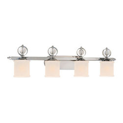 Golden Lighting - Golden Lighting 1030-BA4-CH Cerchi 4 Light Bathroom Vanity Light, Chrome - Cerchi 4 Light Vanity in the Chrome finish