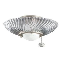 Kichler Lighting - Kichler Lighting 380113NI Decor Swirl Ceiling Fan Light Kit - Kichler Lighting 380113NI Decor Swirl Ceiling Fan Light Kit