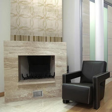 Contemporary Indoor Fireplaces by CheaperFloors