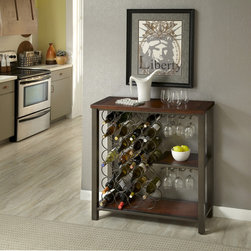 None - Cabin Creek Wine Storage Rack - Our Cabin Creek collection conveys a reclaimed wood vintage feel. Each piece is heavily distressed to create a one of a kind look.