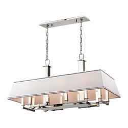 HUDSON VALLEY LIGHTING - Hudson Valley Lighting Kingston-Island Polished Nickel - Free Shipping