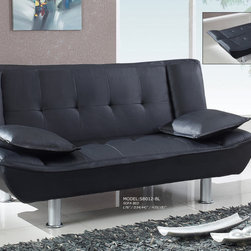 Global Furniture - SB012 Sofabed in Black - SB012 Sofabed in Black