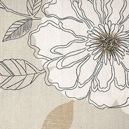 Floral - Large - Carmel Upholstery Fabric - Item #1010170-106.
