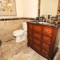 Traditional Powder Room by Architectural Justice