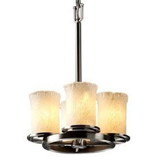 Chandeliers Veneto Luce Dakota Straight Stem Ring Chandelier by Justice Design Group