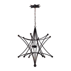Crystorama - Crystorama 9236-EB Astro Ceiling Pendant - Modern Contemporary Ceiling Pendant in English Bronze from the Astro Collection by Crystorama.