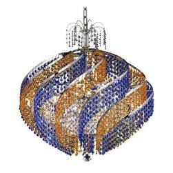 Elegant Lighting - Elegant Lighting 8053D26C Spiral 15-Light, Single-Tier Crystal Chandelier, Finis - Elegant Lighting 8053D26C Spiral 15-Light, Single-Tier Crystal Chandelier, Finished in Chrome with Royal Cut CrystalsElegant Lighting 8053D26C Features: