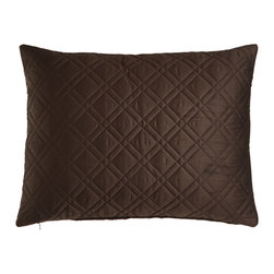"""Eastern Accents - Standard Quilted Sham - WALNUT (BROWN) (20X27) - Eastern AccentsStandard Quilted ShamDetailsMade of 300-thread-count Egyptian-cotton sateen.Machine wash.20"""" x 27"""".Made in the USA of imported materials."""
