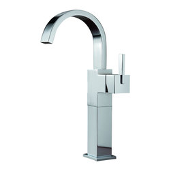 Delta - Vero Single Handle Centerset Bathroom Faucet with Riser - Less Pop-Up - Delta 753LF Vero Single Handle Centerset Bathroom Faucet with Riser - Less Pop-Up in Chrome. Its sleek and minimalist design are just two reasons the ribbon-inspired Vero Collection is the perfect urban oasis.  Getting ready in the morning is far from routine when you are surrounded by a bath that reflects your personal style.  Offered in chrome and stainless, the Vero Bath Collection comes with a full suite of coordinating accessories, providing a decorative look throughout the bath.Delta 753LF Vero Single Handle Centerset Bathroom Faucet with Riser - Less Pop-Up in Chrome, Features:1.5 gpm, 5.7 L/min