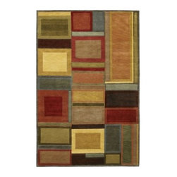 Couristan Pokhara Iridescent Blocks Multicolor Area Rug - The Couristan Pokhara Iridescent Blocks Multicolor Rug brings both contemporary style and color to your home. The large block design features a variety of colors with contrasting borders. This hand-knotted rug is made of 100% semi-worsted New Zealand wool using a time-honored Indo-Nepalese weave resulting in the 0.39-inch pile height. The rug is then double-washed to provide a soft hand and rich look. To preserve the beauty and color spot-clean as needed. Available in a variety of shapes and sizes this rug is made in India for Couristan Rugs. One-year limited warranty.Sizes offered in this rug:Following are all sizes for this rug. Please note that some may be currently unavailable due to inventory. Also please note that rug sizes may vary by up to 4 inches in dimensions listed.Dimensions:3.6 x 5.6 ft.5.6 x 8 ft.8 x 11 ft.9.6 x 13 ft.2.6 x 8 ft. RunnerAbout Couristan RugsThe renowned Couristan Rug Company is headquartered in Fort Lee N.J. The company continues to take great pride in its 78-year-old commitment to excellence by weaving four key components - Trust Style Quality and Innovation - into each and every product it imports or manufactures. This commitment has earned the company a long-standing and successful position in the floor covering industry while providing its customers with the highest levels of design value and customer service.