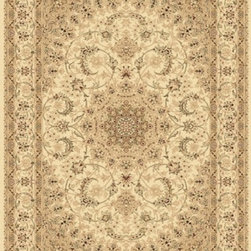 "Dynamic Rugs - Dynamic Rugs Rug, Ivory, 5' 3"" x7' 7"" - The Legacy Collection by Dynamic Rugs features persian styled rugs with 800,000 points with traditional colors."