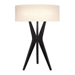 Robert Sonneman Lighting - Robert Sonneman Lighting 6150.25 Bel Air 2 Light Floor Lamps in Satin Black - Bel Air Table Lamp
