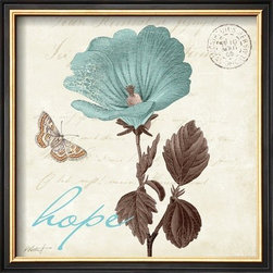 Artcom - Touch of Blue III, Hope by Katie Pertiet - Touch of Blue III, Hope by Katie Pertiet is a Framed Art Print set with a COVENTRY Black Thin wood frame.