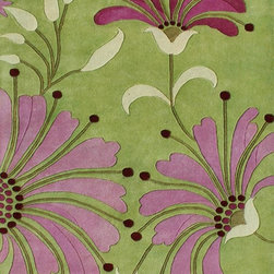 Alliyah Rugs - Alliyah Rugs Z n Z Rug Gallery 26009 (Wild rose, Grass) 5' x 8' Rug - This Hand Crafted rug would make a great addition to any room in the house. The plush feel and durability of this rug will make it a must for your home. Free Shipping - Quick Delivery - Satisfaction Guaranteed